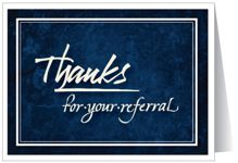Thanks for your referral